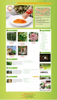 Thiết kế web giá rẻ bán giò chả