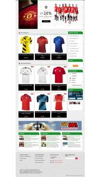 Thiết kế web giá rẻ bán quần áo thể thao