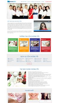 Thiết kế web giá rẻ nha khoa