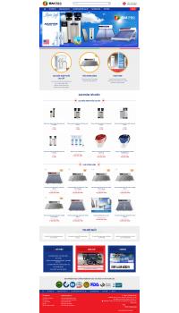 Thiết kế web giá rẻ bán máy lọc nước