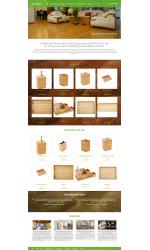 Thiết kế web giá rẻ nội thất tre trúc