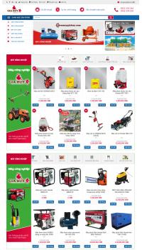 Thiết kế web giá rẻ máy nông nghiệp