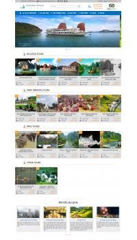 Thiết kế web giá rẻ du lịch, lữ hành, đặt tour