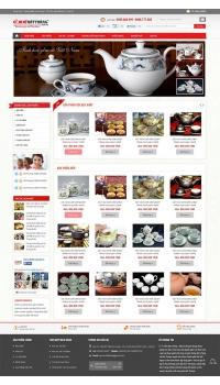 Thiết kế web giá rẻ gốm sứ