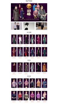 Thiết kế web giá rẻ thời trang trung niên
