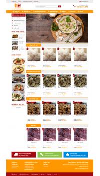Thiết kế web giá rẻ bán nấm hương