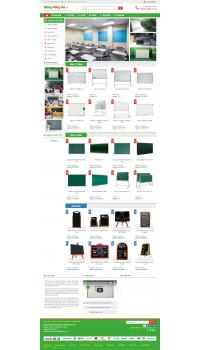 Thiết kế web giá rẻ bán sản phẩm vệ sinh công nghiệp