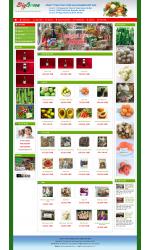 Thiết kế web giá rẻ bán thực phẩm sạch