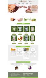 Thiết kế web giá rẻ tinh bột nghệ