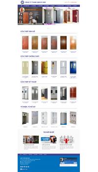 Thiết kế web giá rẻ cửa thép vân gỗ