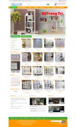 Thiết kế web giá rẻ nội thất trang trí