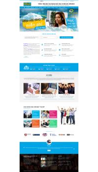 Thiết kế web giá rẻ trung tâm tiếng anh