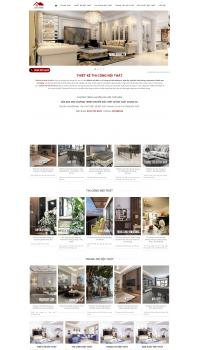 Thiết kế web giá rẻ thiết kế nội thất
