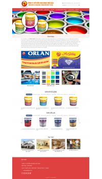 Thiết kế web giá rẻ cửa hàng sơn