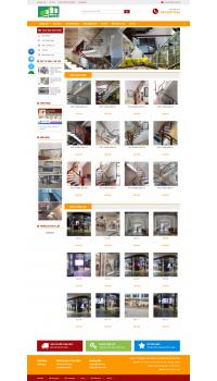 Thiết kế web giá rẻ cầu thang kính
