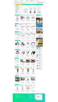 Thiết kế web giá rẻ bán đèn Led