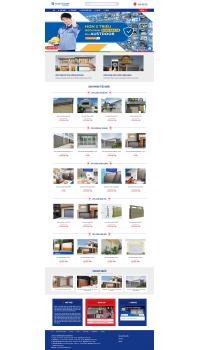 Thiết kế web giá rẻ cửa cuốn