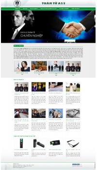 Thiết kế web giá rẻ thám tử