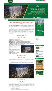 Thiết kế web giá rẻ mua bán chung cư