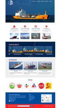 Thiết kế web giá rẻ vận tải biển
