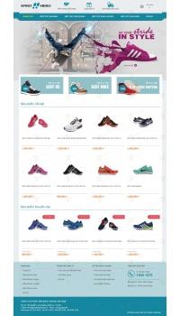 Thiết kế web giá rẻ giày thể thao
