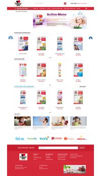 Thiết kế web giá rẻ  thực phẩm chức năng