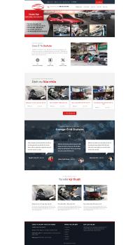 Thiết kế web giá rẻ gara ô tô
