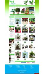 Thiết kế web giá rẻ bán cây cảnh