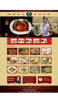 Thiết kế web giá rẻ nhà hàng, quán ăn
