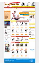 Thiết kế web giá rẻ bán máy tập thể hình