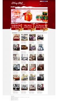 Thiết kế web giá rẻ bán chăn ga gối đệm