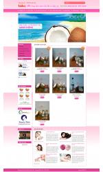 Thiết kế web giá rẻ bán dầu dừa