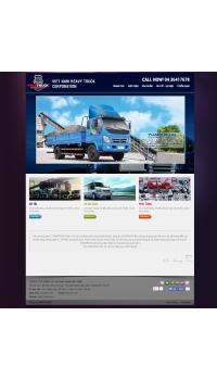 Thiết kế web giá rẻ cho thuê xe ô tô, xe tải