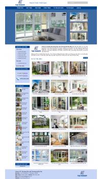 Thiết kế web giá rẻ cửa nhựa, cửa kính