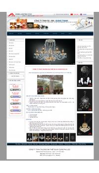 Thiết kế web giá rẻ đèn chùm trang trí nội thất