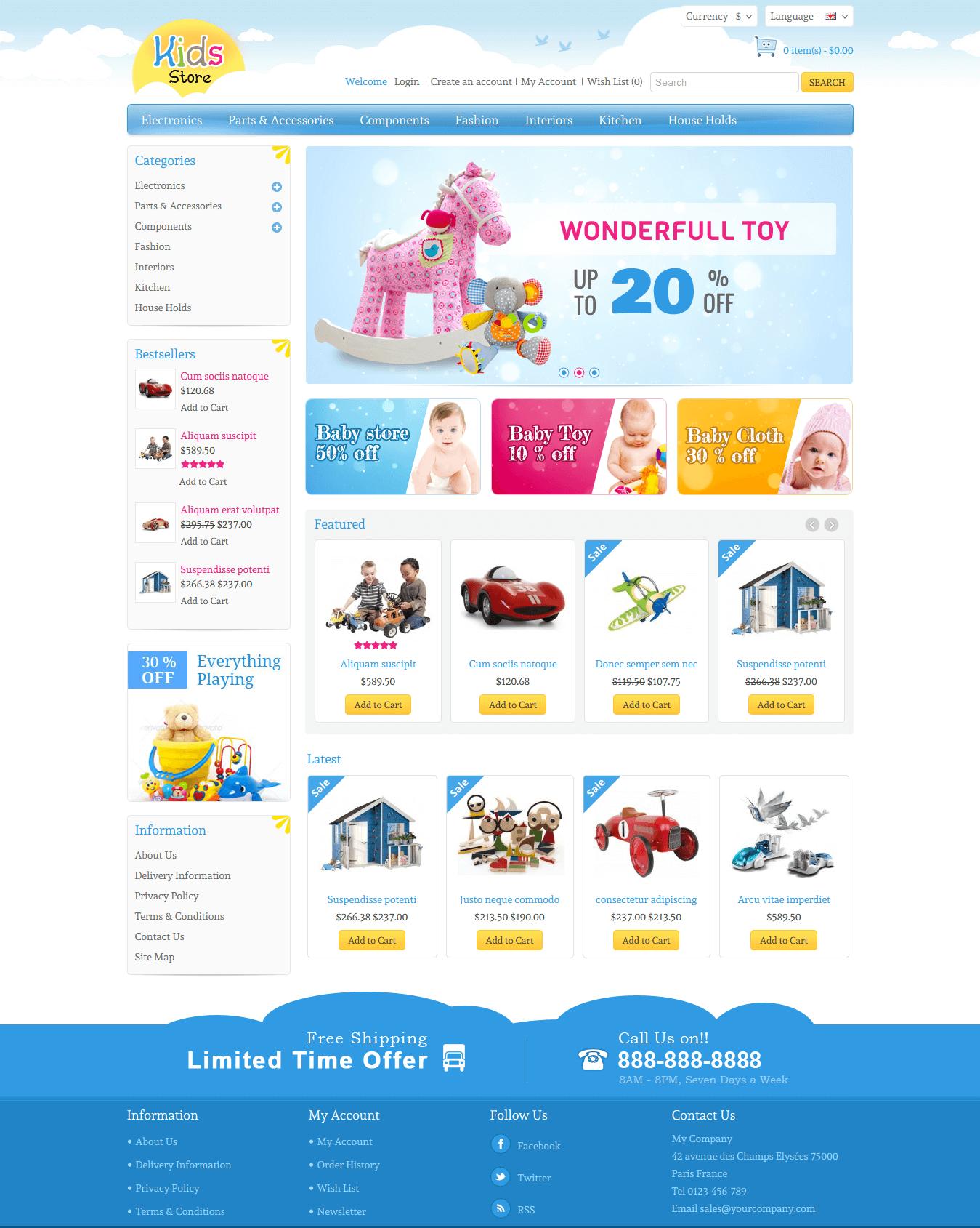 Thiết kế web giá rẻ bán đồ chơi trẻ em