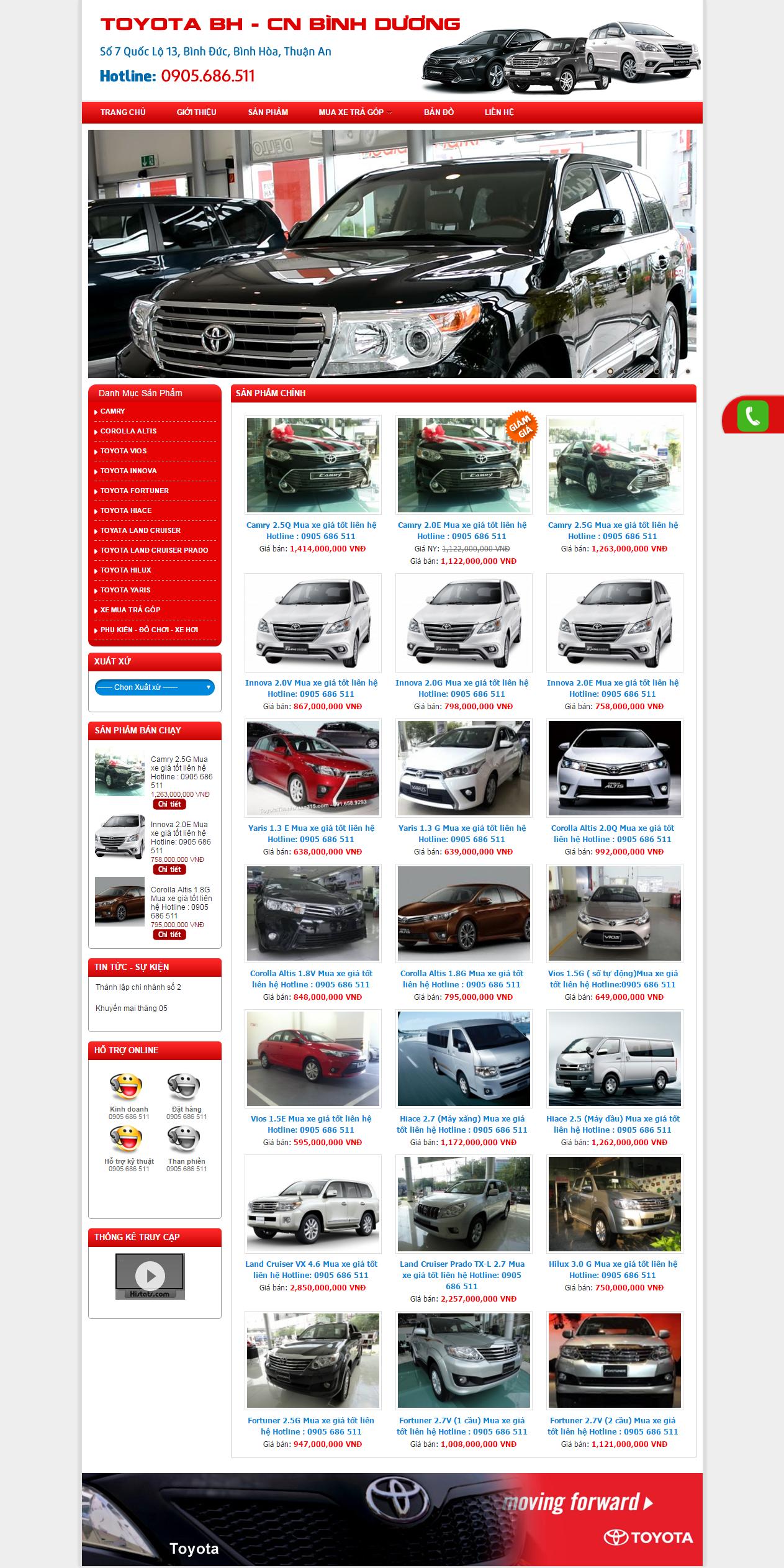 Thiết kế web giá rẻ bán ô tô xe máy