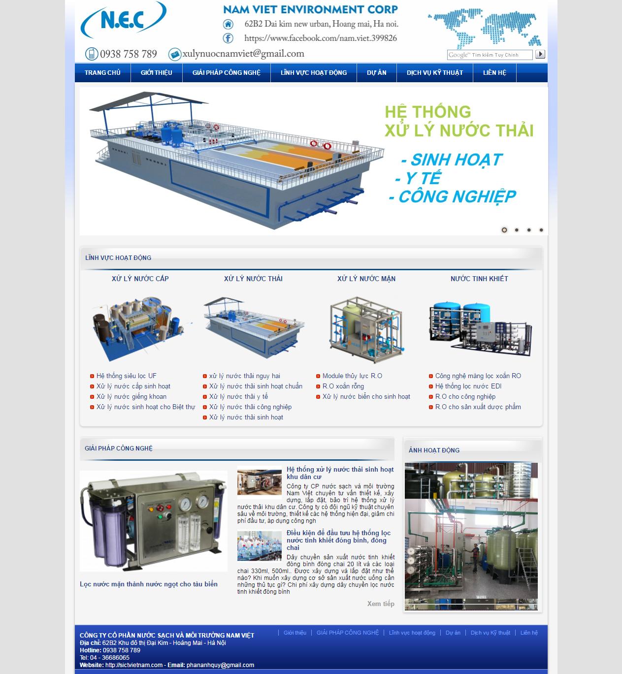 Thiết kế web giá rẻ xử lý nước thải công nghiệp