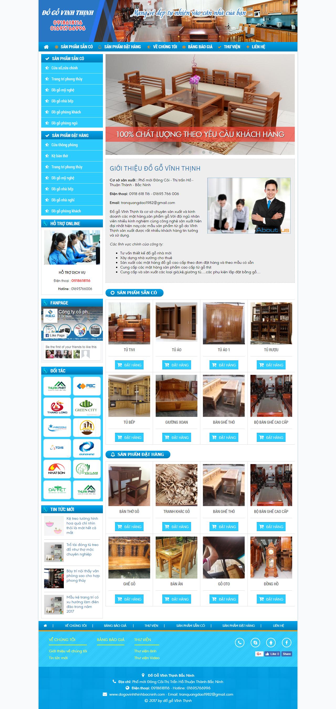 Web giá rẻ bán đồ gỗ