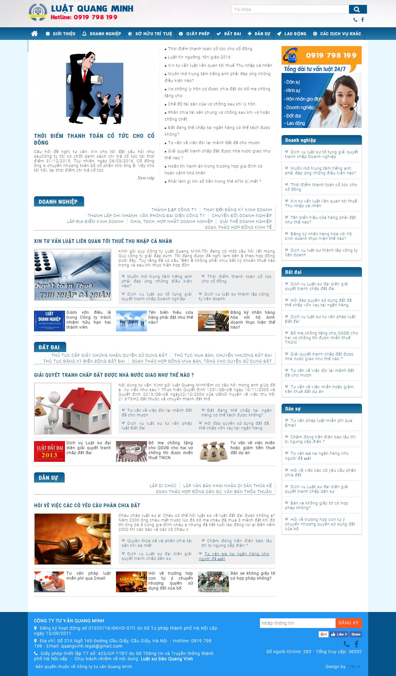Thiết kế web giá rẻ công ty luật