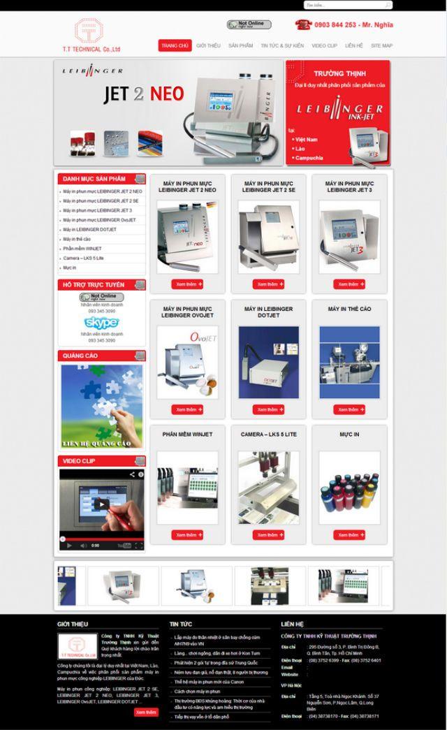 Thiết kế web giá rẻ máy in