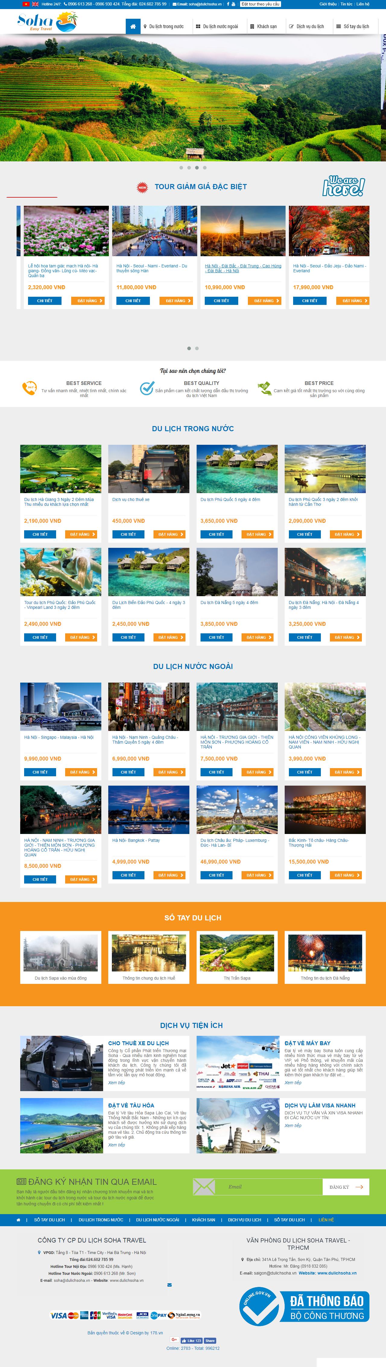 Web giá rẻ du lịch chuyên nghiệp