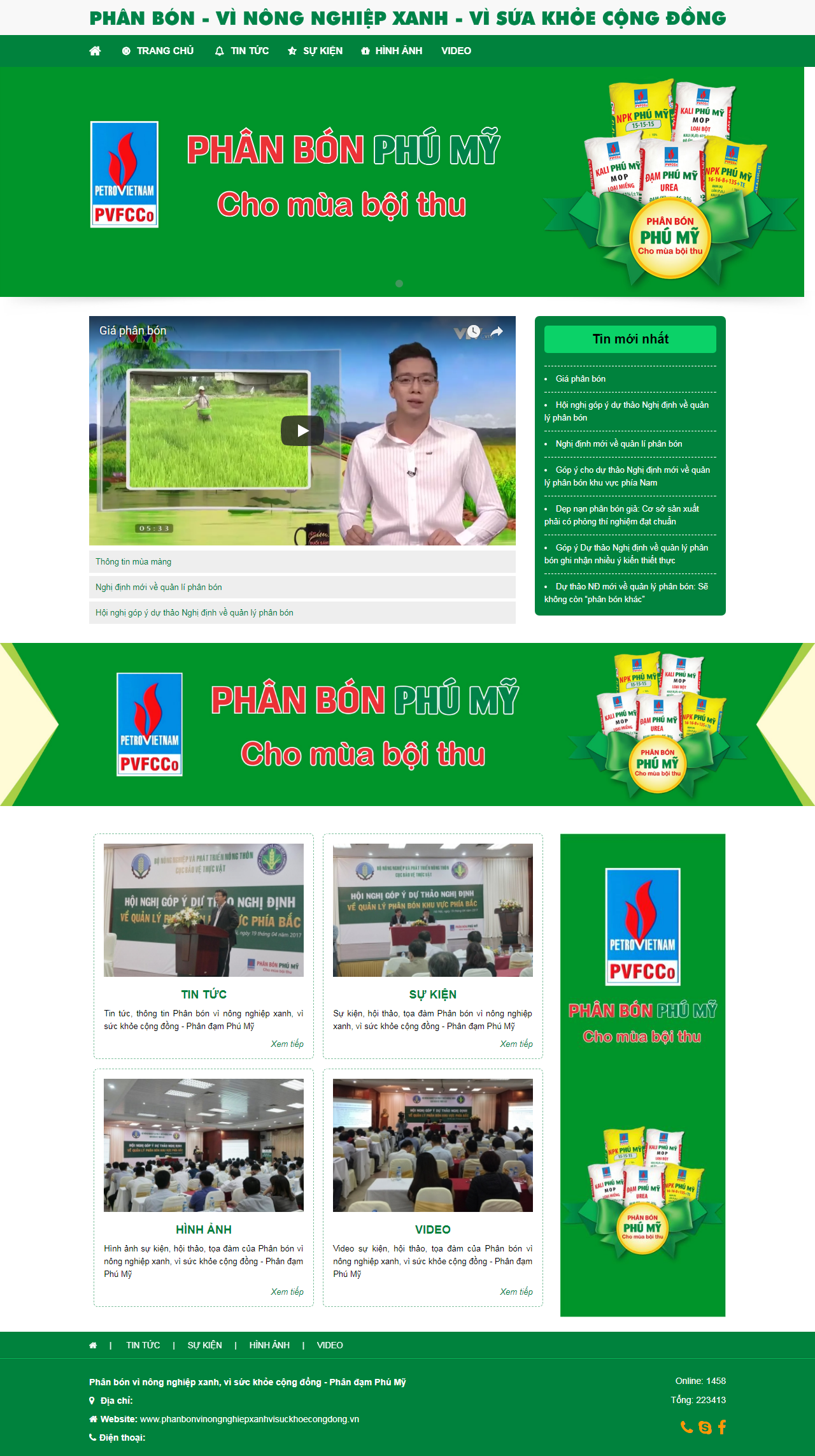 Thiết kế web giá rẻ công ty phân bón