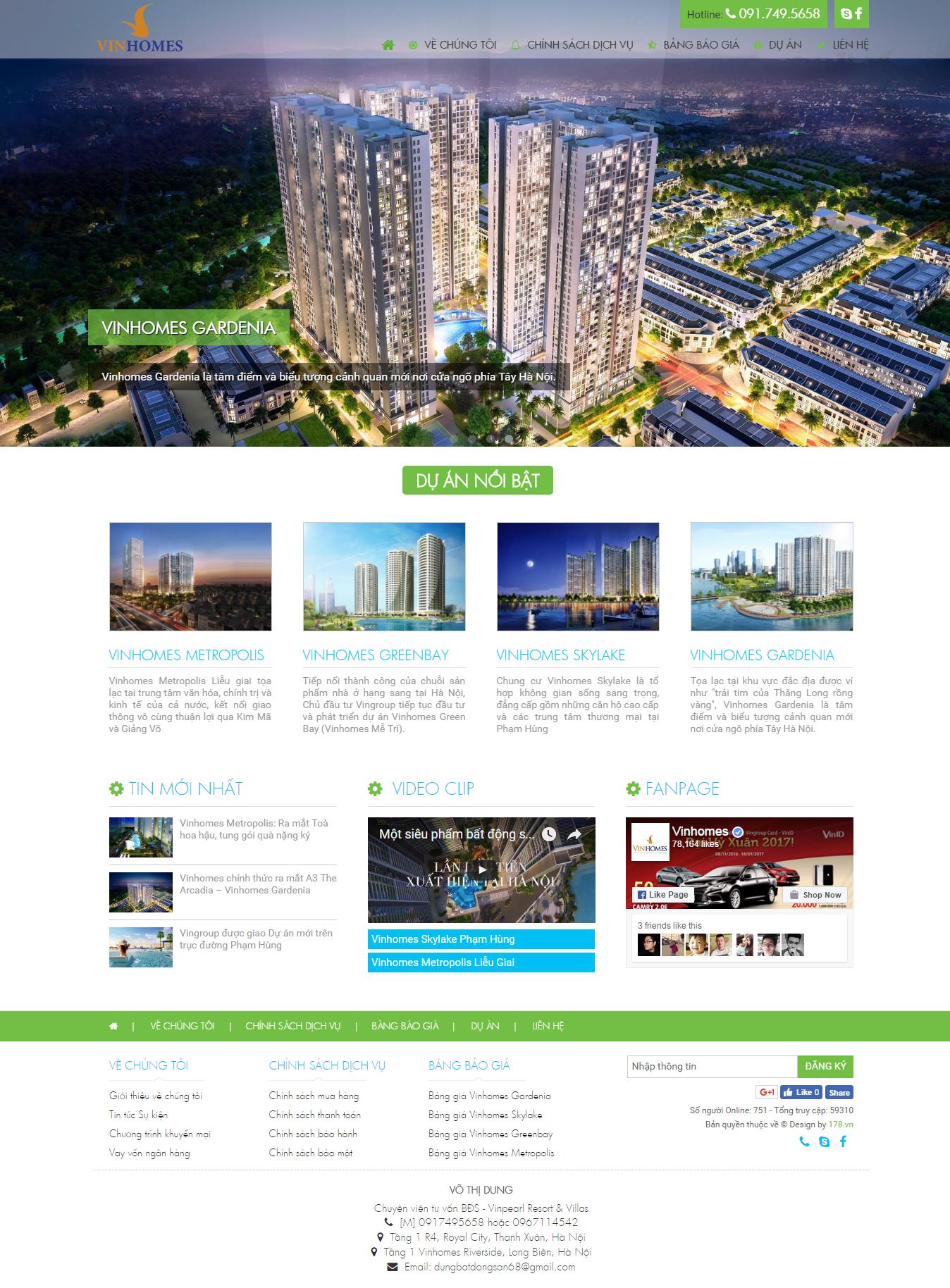 Web giá rẻ công ty bất động sản