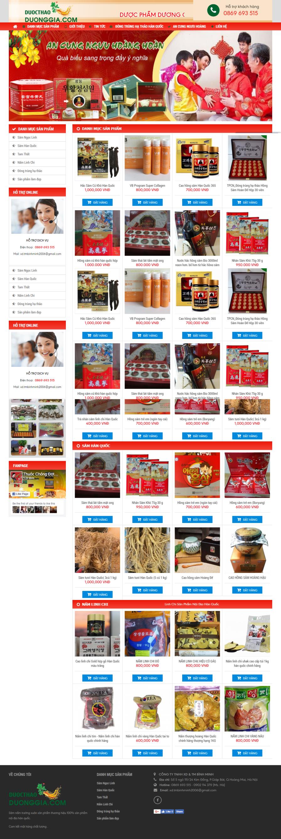 Thiết kế web giá rẻ bán nhung hươu