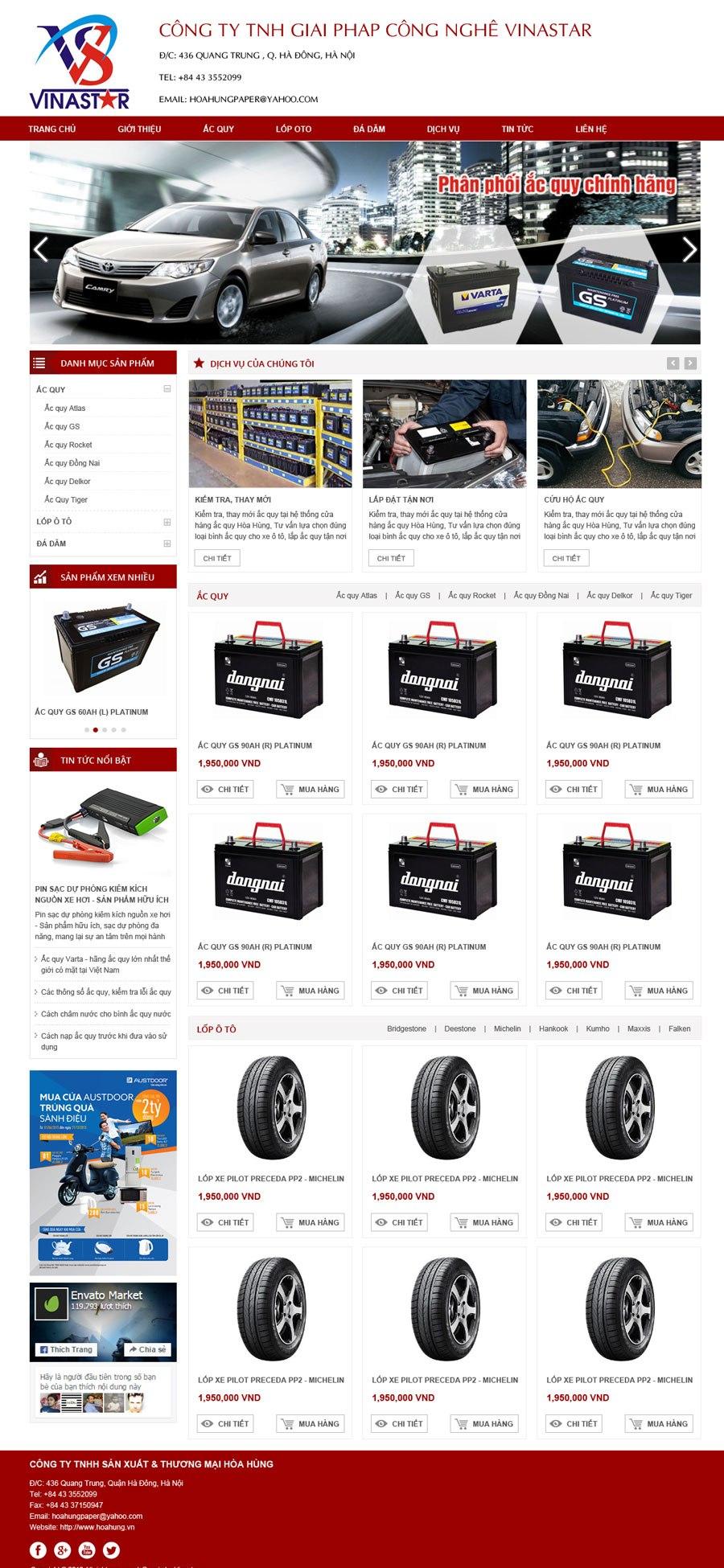 thiết kế web giá rẻ phụ tùng xe đạp