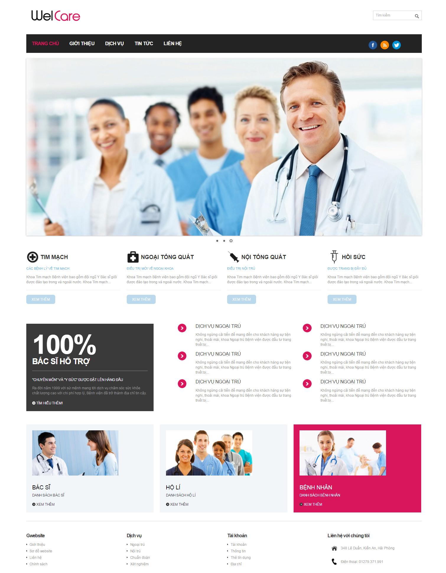 thiết kế web giá rẻ phòng khám