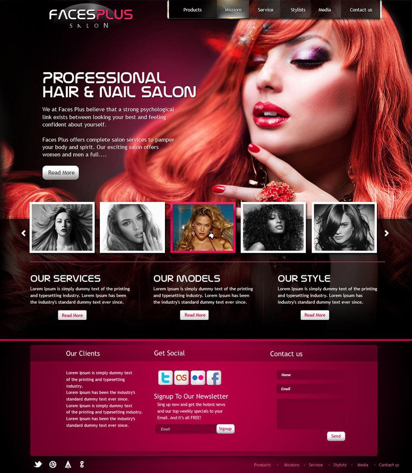 thiết kế web giá rẻ salon tóc