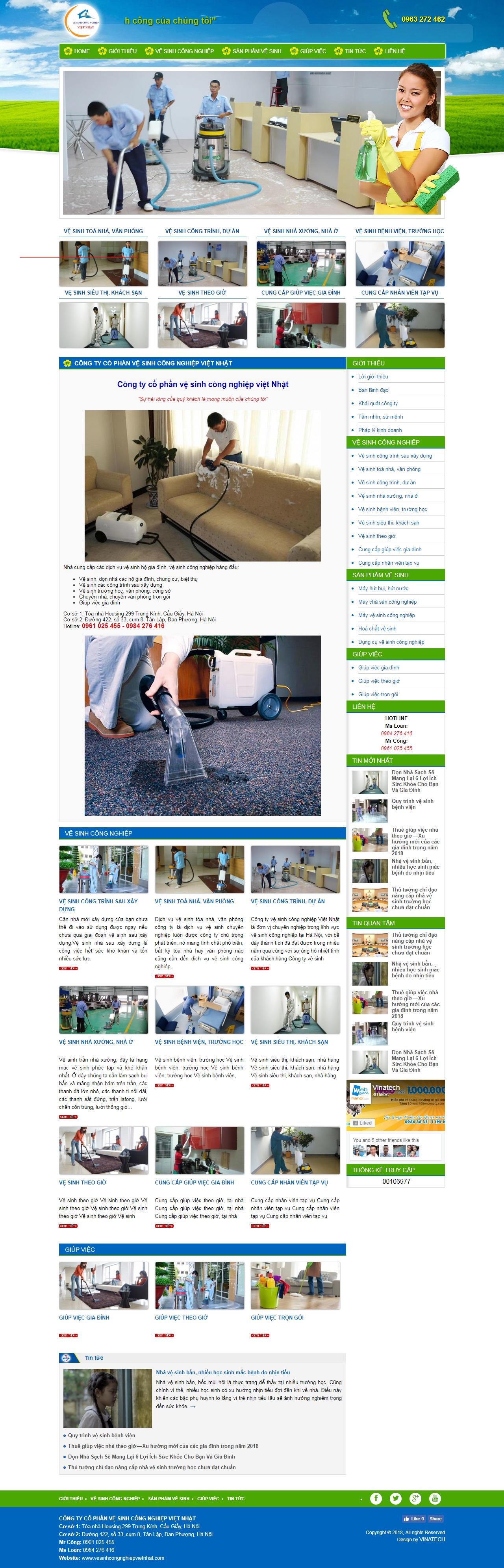 thiết kế web giá rẻ vệ sinh công nghiệp