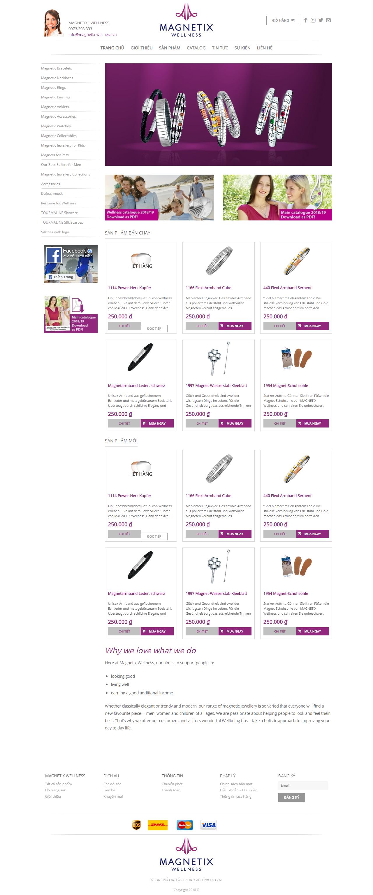 Thiết kế web giá rẻ bán đồ trang sức